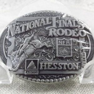 National Finals Rodeo 1998 Hesston Belt Buckle